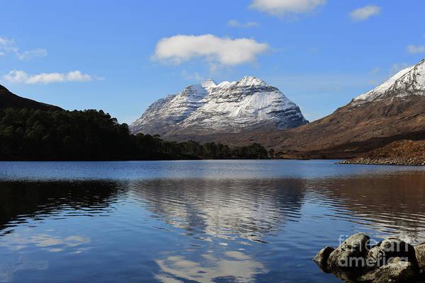 Photograph - Liathach Reflecting In Loch Clair by Maria Gaellman