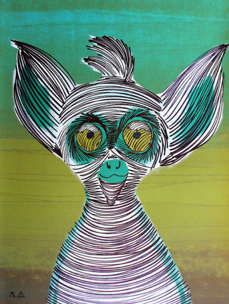 Ring-tailed Lemur Painting - Lib-1027 by Mr CAUTION