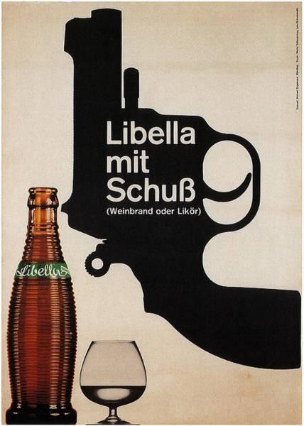 Beer Mixed Media - Libella Mit Schub - Drinks, Revolver - Vintage Alcohol Poster by Studio Grafiikka