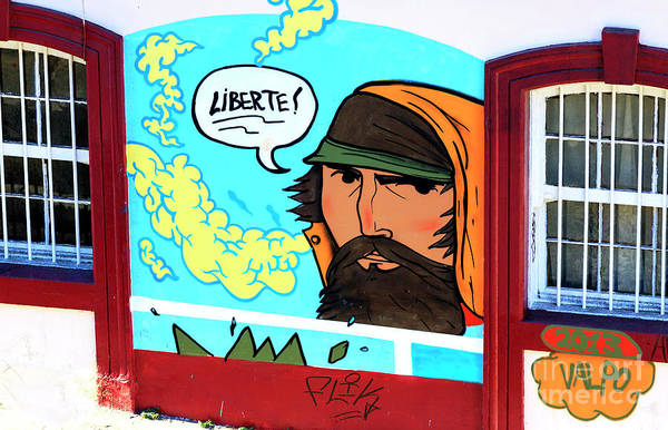 Photograph - Liberte In Valparaiso Chile by John Rizzuto
