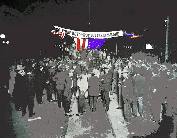 Photograph - Liberty Bonds Rally Congress Tucson Circa 1917 Color Added 2015 by David Lee Guss