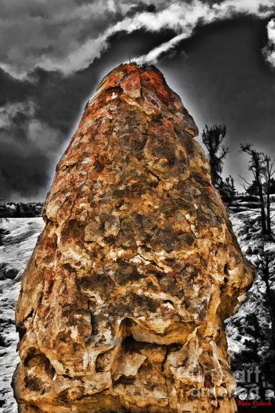 Photograph - Liberty Cap Yellowstone  by Blake Richards