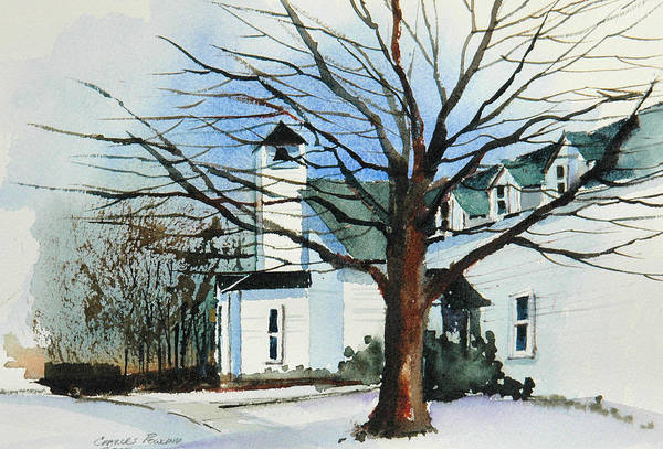 Painting - Liberty Chapel  by Charles Rowland