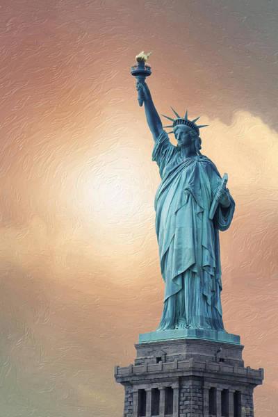 Digital Art - Liberty Enlightening The World by Serge Averbukh