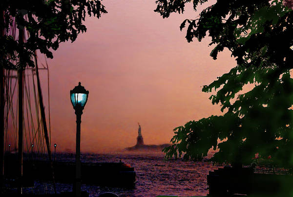 Wall Art - Digital Art - Liberty Fading Seascape by Steve Karol