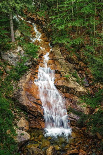 Franconia Notch State Park Photograph - Liberty Gorge Cascade - Flume Gorge - Franconia Notch by Jeff Bazinet