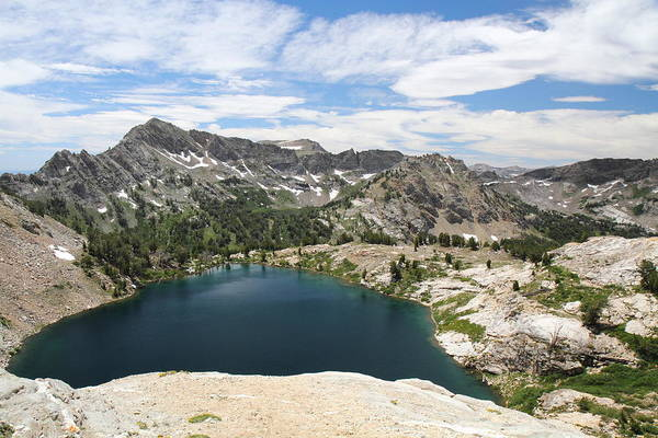 Photograph - Liberty Lake At Nevada's Ruby Mountains by Steve Wolfe