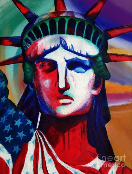 Manhattan Skyline Painting - Liberty Of Statue New York 98jhm by Gull G