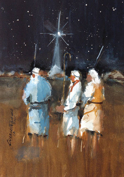 Painting - Liberty - Shepherds Watch  II by Charles Rowland