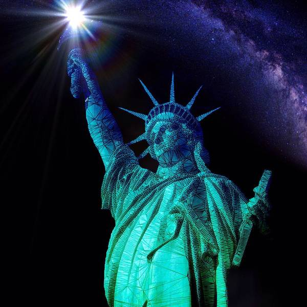 Liberty Sky Art Print