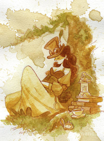 Wall Art - Painting - Librarian by Brian Kesinger