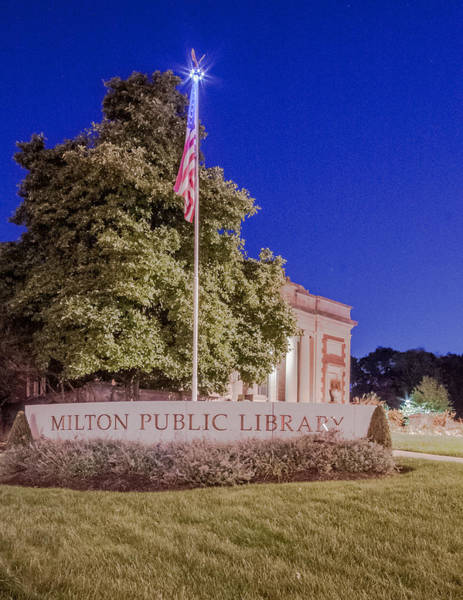 Photograph - Library Flag by Brian MacLean