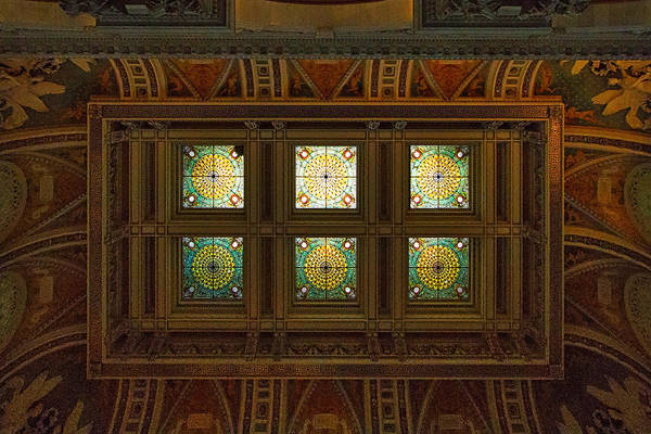 Photograph - Library Of Congress Ceiling And Skylight #2 by Stuart Litoff