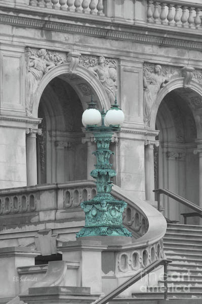 Photograph - Library Of Congress Lamppost by E B Schmidt