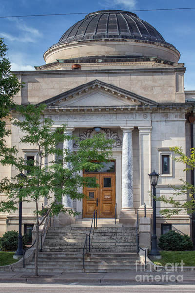 Photograph - Library Summer Entrance With Dome by Kari Yearous