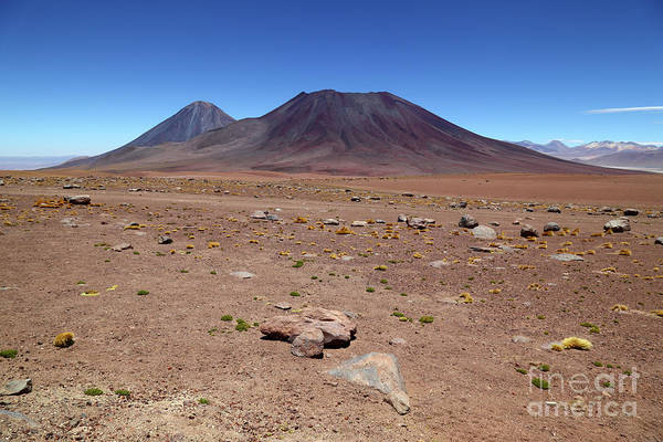 Photograph - Licancabur And Juriques Volcanos Chile by James Brunker