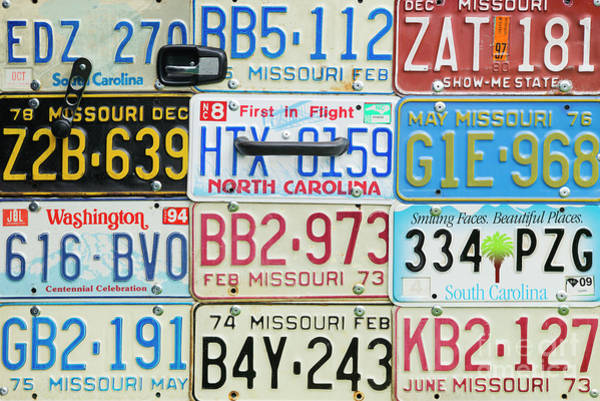 Wall Art - Photograph - License Plates by Tim Gainey
