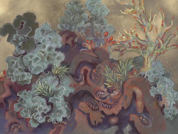 Lichen Landscape Art Print