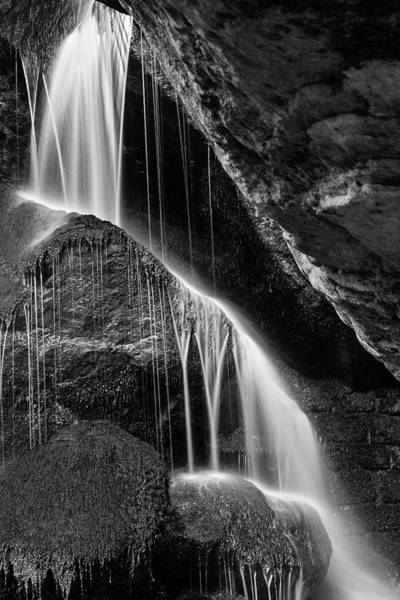 Photograph - Lichtenhain Waterfall - Bw Version by Andreas Levi