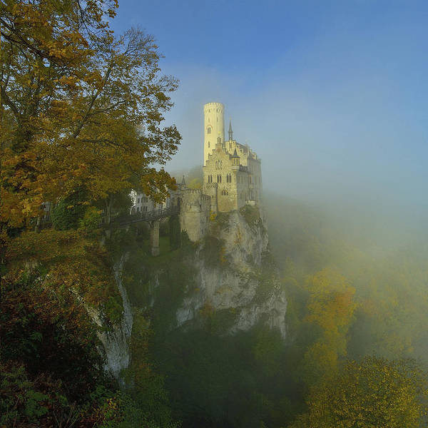 Castle Photograph - Lichtenstein Castle by Anna & Maciej Wojtas