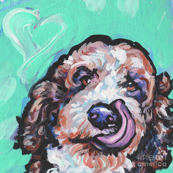 Poodle Wall Art - Painting - Lickety Doodle by Lea
