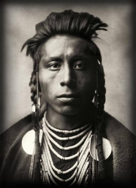 Wall Art - Photograph - Lies Sideway - Crow Tribe 1908 by Daniel Hagerman