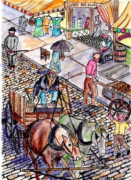 Life As It Was In Columbia And Union Streets Art Print