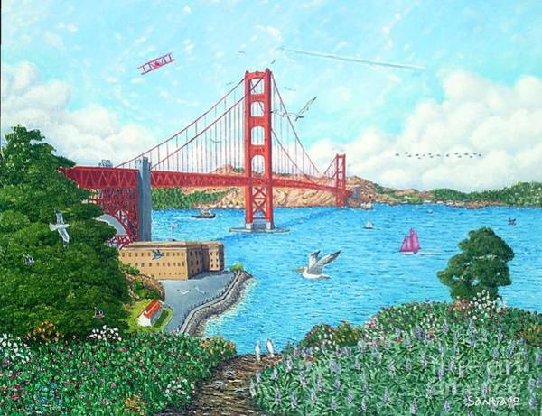 Painting - Life At The Golden Gate by Santiago Chavez