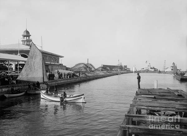 Wall Art - Photograph - Life Boat Practice  New Orleans Ca 1890 by Jon Neidert