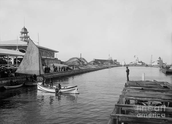 Steam Boat Photograph - Life Boat Practice  New Orleans Ca 1890 by Jon Neidert