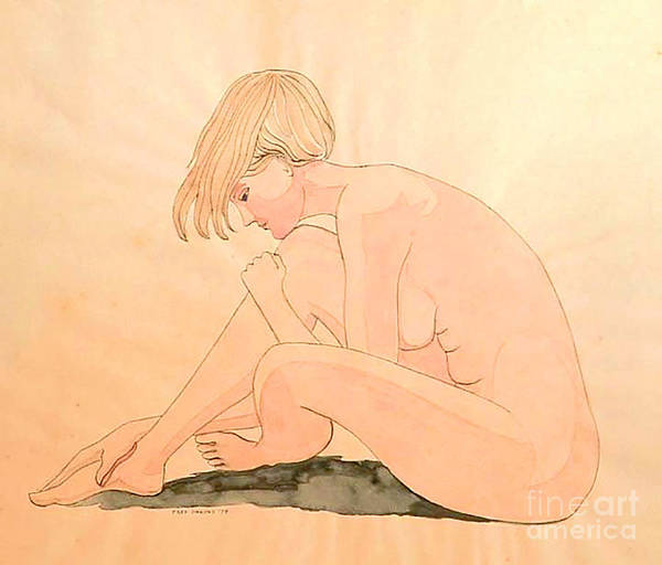 Life Drawing Watercolor Art Print by Fred Jinkins