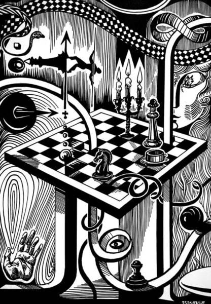 Cosmos Drawing - Life Game by Inga Vereshchagina