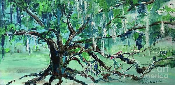 Painting - Life Goes On Playing Under The Tree Of Life by Denise Morencie