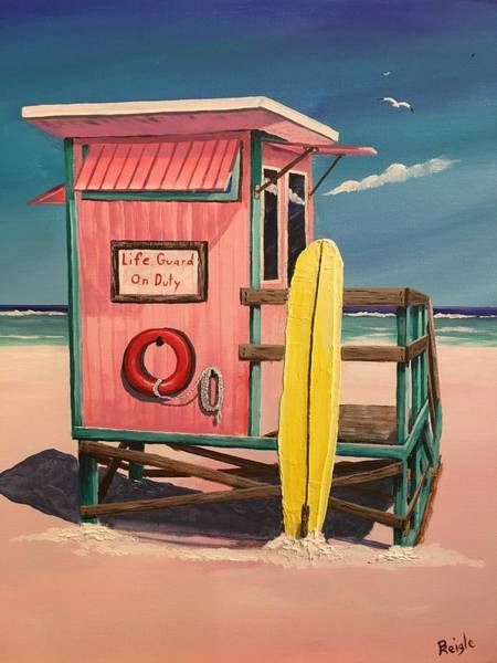 Wall Art - Painting - Life Guard by Bruce Reigle