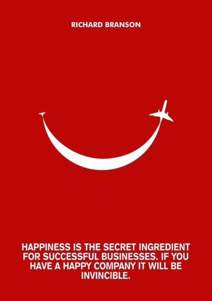 Richard Digital Art - Life Happiness Quote Richard Branson  Quotes Poster by Lab no 4 The Quotography Department