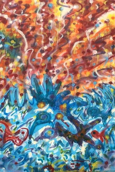 Painting - Life Ignition Mural V3 by Julia Woodman