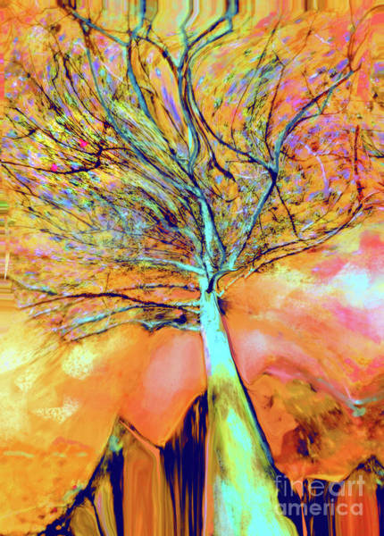 Organic Abstraction Mixed Media - Life In The Trees by Zsanan Studio