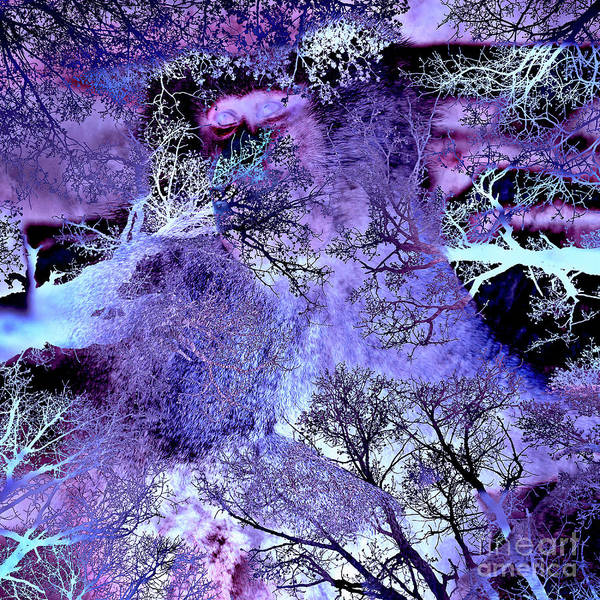 Digital Art - Life In The Ultra Violet Bush Of Ghosts  by Silva Wischeropp