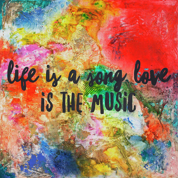Wall Art - Painting - Life Is A Song by Ivan Guaderrama