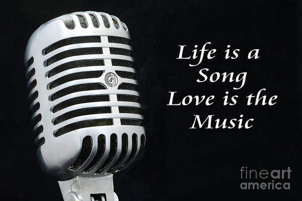 Broadcaster Wall Art - Photograph - Life Is A Song by Paul Ward