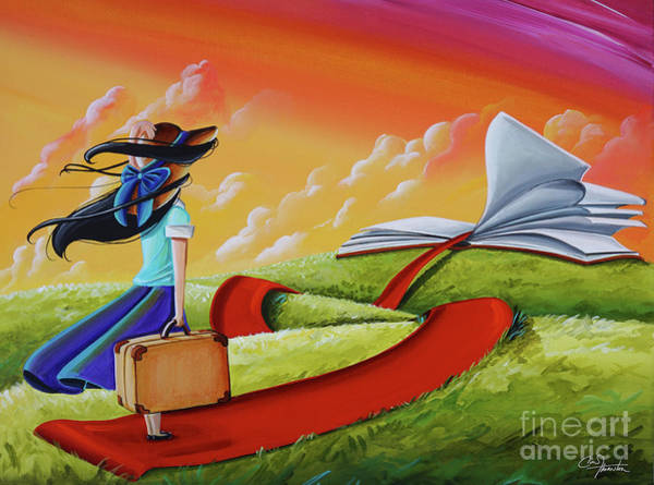 Wall Art - Painting - Life Is An Open Book by Cindy Thornton