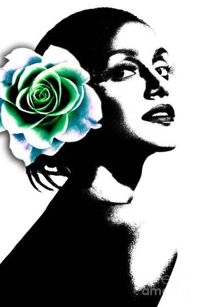Female Face Wall Art - Digital Art - Life Is Beautiful by Ramneek Narang