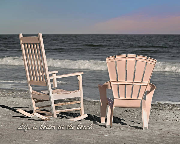 Oceanfront Photograph - Life Is Better At The Beach by Betsy Knapp