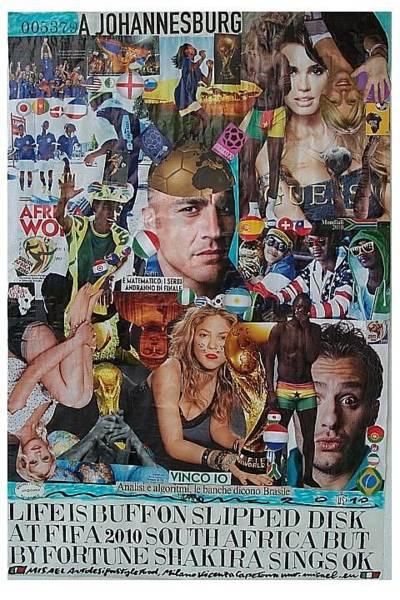 Guess Mixed Media - Life Is Buffon Slipped Disk At Fifa 2010 South Africa by Francesco Martin