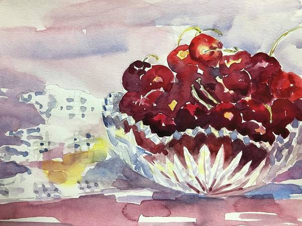Painting - Life Is Just A Bowl Of Cherries by Tara Moorman