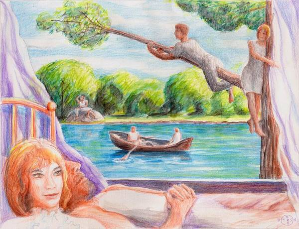 Surrealist Drawing - Life Is Not A Dream by Gary Peterson