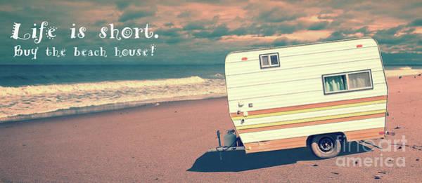 Photograph - Life Is Short Buy The Beach House Mug by Edward Fielding