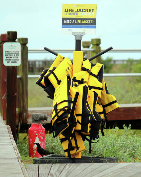 Wall Art - Photograph - Life Jacket Station by Cynthia Guinn