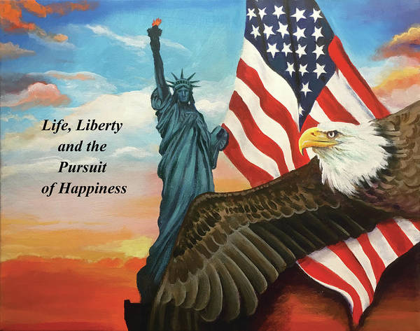 State Of Being Painting - Life, Liberty, Pursuit Of Happiness by Robert Korhonen