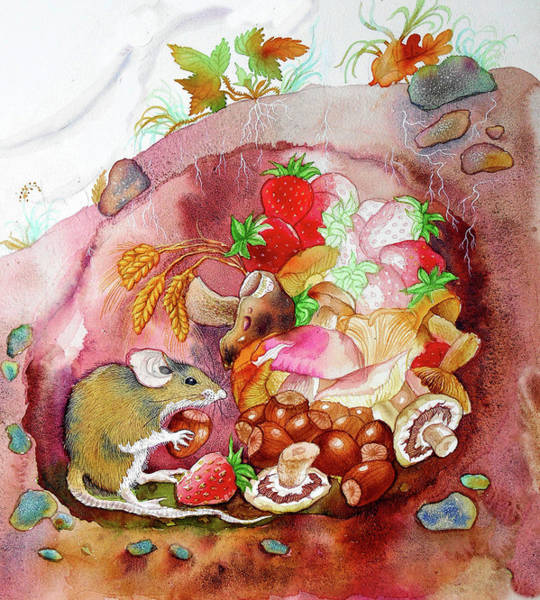 Mushroom Painting - Life Of A Happy Mouse by Leon Zernitsky